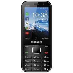 """Maxcom MK281 KaiOS 2.8"""" 512MB/4GB 4G VoLTE, VoWiFi with Apps, Camera, Bluetooth, Torch and FM Radio Black"""