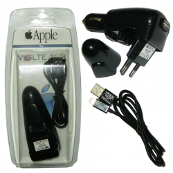 VOLTE-TEL LIGHTNING IPHONE 5 (USB DUO TRAVEL-Φ/A+VCD01 ΦΟΡΤΙΣΗΣ-DATA)BLACK