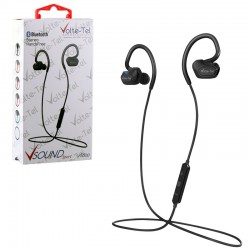 BLUETOOTH STEREO HANDS FREE V SOUND SPORT VT600 BLACK VOLTE-TEL