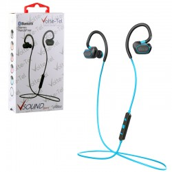 BLUETOOTH STEREO HANDS FREE V SOUND SPORT VT600 BLUE VOLTE-TEL