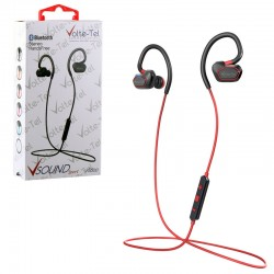 BLUETOOTH STEREO HANDS FREE V SOUND SPORT VT600 RED VOLTE-TEL