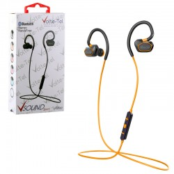 BLUETOOTH STEREO HANDS FREE V SOUND SPORT VT600 ORANGE VOLTE-TEL