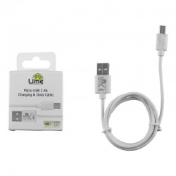 LIME MICRO USB DEVICES LONG USB 2.4A ΦΟΡΤΙΣΗΣ-DATA 1m LUM01 WHITE